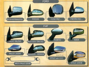 Capa de Retrovisor Cromada – FIAT